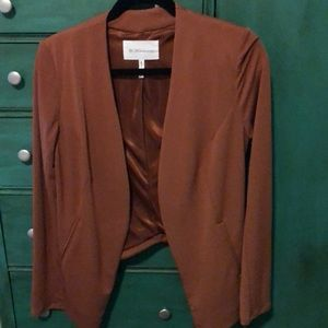 BCBGENERATION rust tuxedo blazer